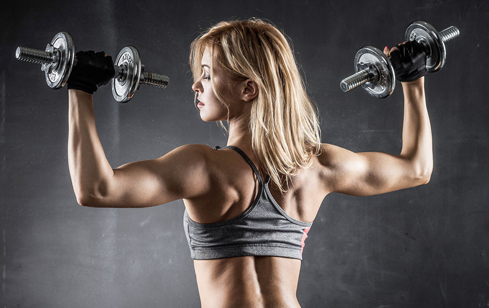 womens chest and tricep gym workout